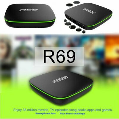 R69 Android 7.1 Smart TV Box 1+8G Quad Core HD 2.4GHz WiFi 4K Media Player~~