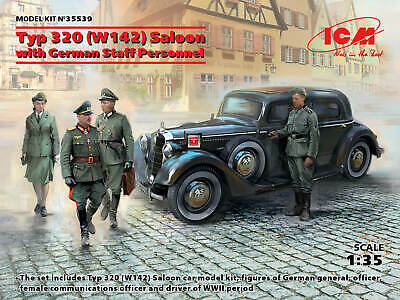 4 figures ICM 35611 WWII German Staff Personnel in 1:35