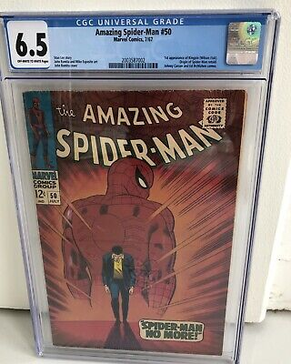 "Marvel Comics - The AMAZING SPIDER-MAN #50 CGC 6.5  - ""SPIDER-MAN NO MORE!"""