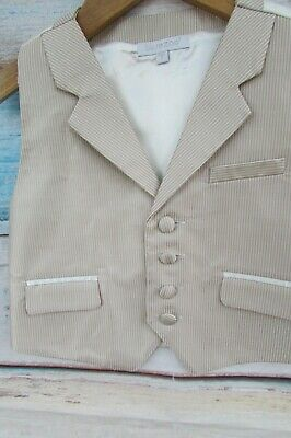 BNWOT Smart Boys Cream Pale Gold Waistcoat by Bluezoo Debenhams Age 2-3
