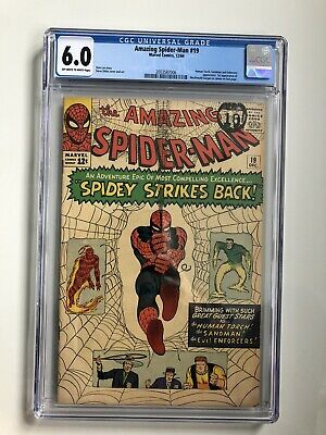 Marvel Comics 12/64 - The AMAZING SPIDER-MAN - SPIDEY STRIKES BACK! #19 CGC 6.0
