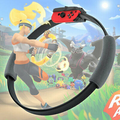 Fitness Ring with Adjustable Leg Strap for Ring Fit Adventure Nintendo Switch CA