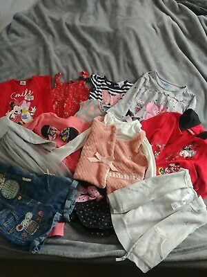 Girls Clothes Bundle Age 2-3 12 items (next, h&m, george, Disney)