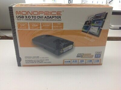 Monoprice USB 3.0 To DVI/HDMI/VGA Adapter Expandble Up To 6 Units