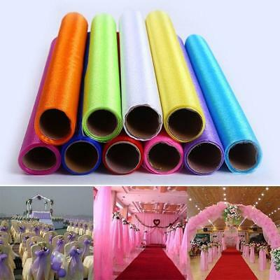 Wedding Decor Tulle Roll Organza Sheer Fabric Chair Sash Bow Party Supplies FI