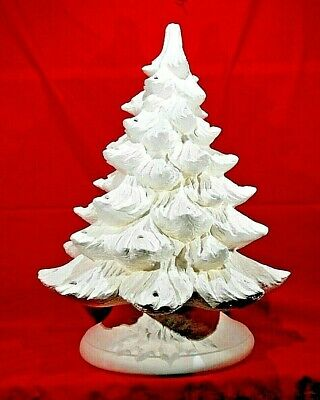 Medium Christmas Tree on Base Ceramic Bisque Ready To Paint