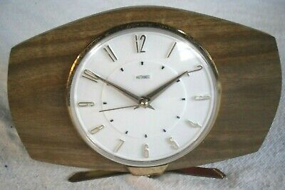 Vintage 1960-70s Retro METAMEC Mains Mantle Clock - Working Order - Restored.