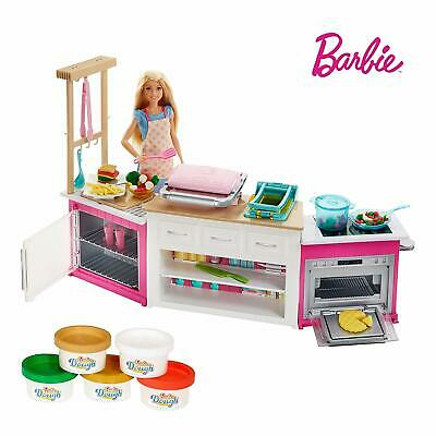 Barbie FRH73 Careers Ultimate Kitchen with Doll Playdough, Cooking, Baking To...