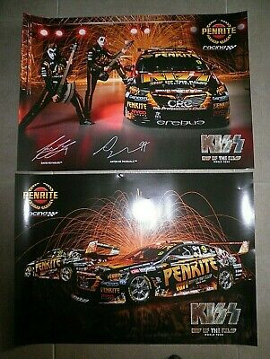 2019 Erebus Holden V8 Supercar - Kiss, End Of The Road World Tour Posters.