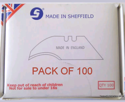 100 x HEAVY DUTY CONCAVE BLADES IND99A FIT DOLPHIN DELPHIN  MADE IN SHEFFIELD