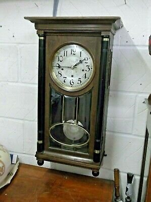 STUNNING FRENCH WALL CLOCK by LFS, 8 DAY WESTMINSTER CHIME, BEAUTIFUL +