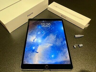 Apple iPad Air 2019 256GB, Wi-Fi, 10.5in - Space Grey. With Apple Pencil.