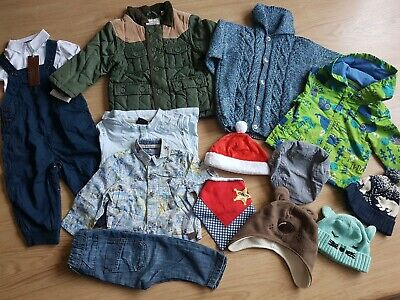 Bundle of boys clothing 13 Items.         From 6 m-ths to 2 years