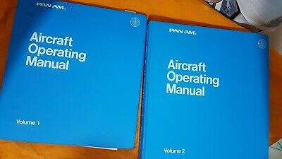 Rare Find Pan Am 747 Aircraft Flight Operating Manual Volume 1 and 2 1978