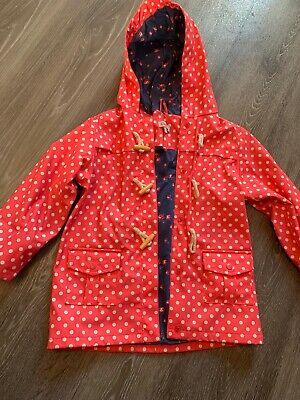 Cath Kidston Girls Punk Dotty Coat Size 4-5Years