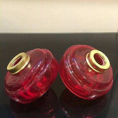 Pair Of Peg Oil Lamp Fonts In Excellent Condition