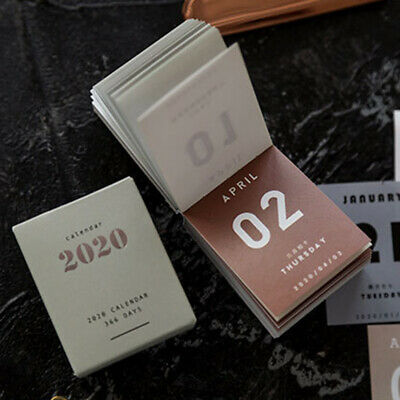 2020 366 Days Calendar Notes Desktop Agenda Diary Tag Daily Planner Book Mini