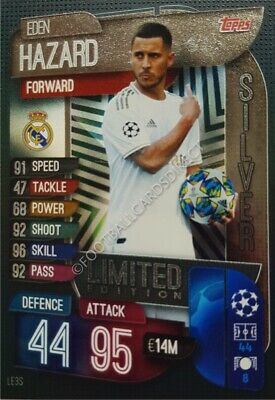 Match Attax 2019/20 Limited Edition Eden Hazard Real Madrid Silver