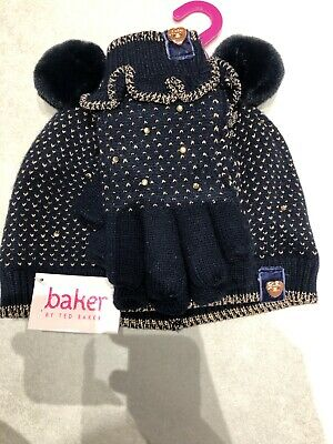 Girls Ted Baker Hat And Glove Matching Set Age 3-6 Years