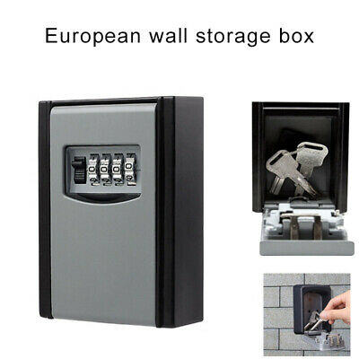 4 Digits Key Storage Box Outdoor Wall Mounted High Security  Key Safe Code Box