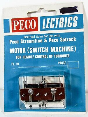 PL-10 Motor (Switch Machine for remote control of turnouts) Peco Lectrics (PL11)