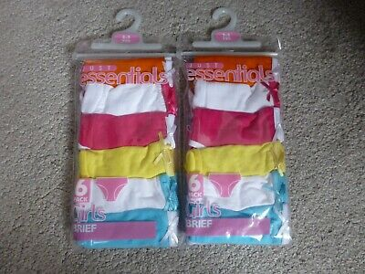2 x 6 PACK 6-7 Years GIRLS PANTS/KNICKERS (12)