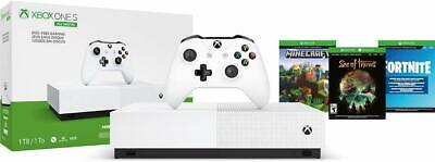 Xbox One S 1TB All-Digital Edition Console Bundle - 3 GAMES INCLUDED - Free Ship