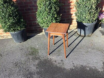 Antique small oak Arts & Crafts side table, Elegant. Delicate. Collect Devizes