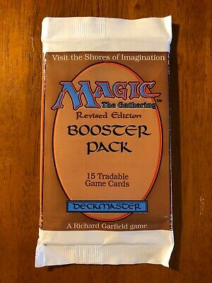 Revised 3rd. Edition factory sealed booster pack (1994). MTG