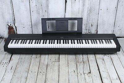 Yamaha P45 88 Key Weighted Action Digital Piano w Power Supply and Pedal Black