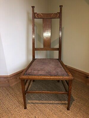 Beautiful Tiger Oak Arts & Crafts Art Nouveau Bedroom Chair Liberty Style