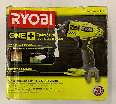 RYOBI P290 18-Volt ONE+ Cordless 1/4 in. Hex QuietSTRIKE Pulse Driver Tool-Only