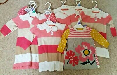 Joblot Wholesale girls x10 DRESSES + TIGHTS by ex store Age 0-18 mnt BNWT