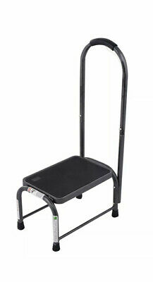 Step Stool with Safety Grip Handle Platform One Step Stool Non-Slip Holds 330 lb