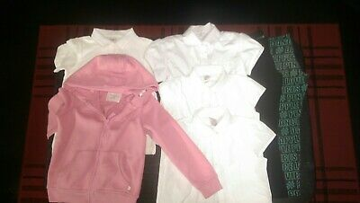 Bundle Of Girls White T-shirts And Leggings Age 4 To 5 Years