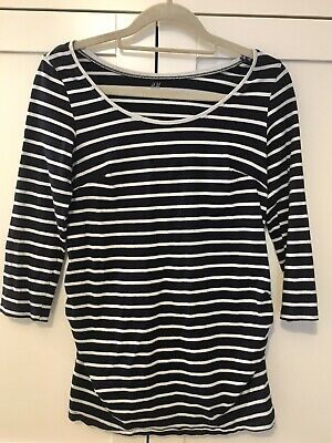 H&M Mama Maternity Stripy Top Size Small