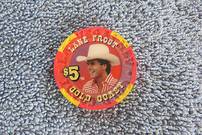 Extremely Rare Gold Coast Casino (Rodeo Las Vegas Legends)  Lane Frost $5 Chip