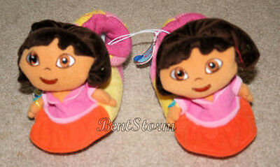 Dora the Explorer Doll Head Numbers Girls Plush Toddler Slippers House Shoes M
