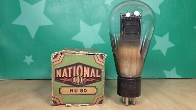 National Union Type 50 (250 350) NOS NIB Globe Vacuum Tube