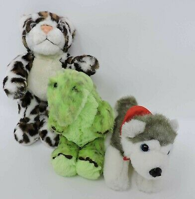 Build A Bear Lot Plush Dinosaur Leopard Husky 3 Mini Soft Toys BABW