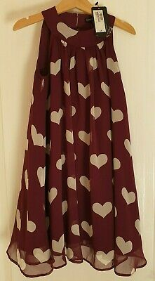 BNWT Marks and Spencer (M&S) Autograph girls dress age 5-6 with hearts BNWT