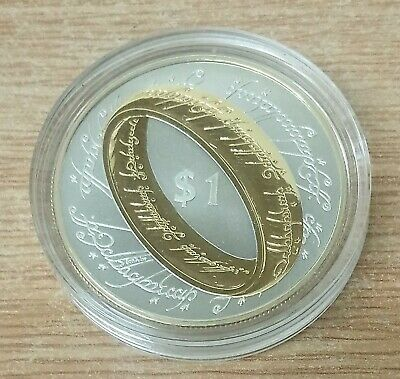 Lord of the Rings, New Zealand 1 oz 925 Silver Proof $1 One Dollar