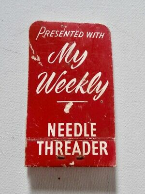 Collectable MY WEEKLY Needle Threader & Scissors Sharpener Sewing