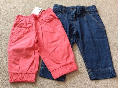 Next girl summer bundle  cropped trousers size 4 years New with tag!