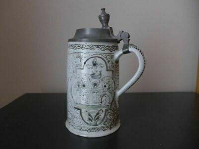 18th Century Tankard With Pewter Lid