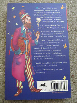 HARRY POTTER and the PHILOSOPHER'S STONE YOUNG WIZARD 1st Edition 36th VGC PB