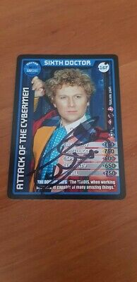 Signed Colin Baker Dr Who Monster Invasion Card Charity Auction Sixth Doctor