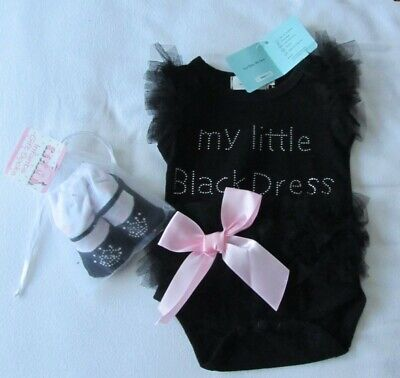 Beautiful Baby Girl Outfit - Frilly Bodysuit & Pair Of Socks - Bnwt