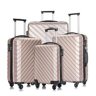 4 Piece Luggage Set Spinner Trolley Travel Hardshell Suitcase with 4 Covers