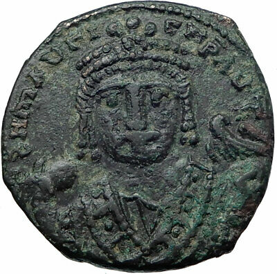 MAURICE TIBERIUS 582AD Antioch Follis Authentic Ancient Byzantine Coin i80721